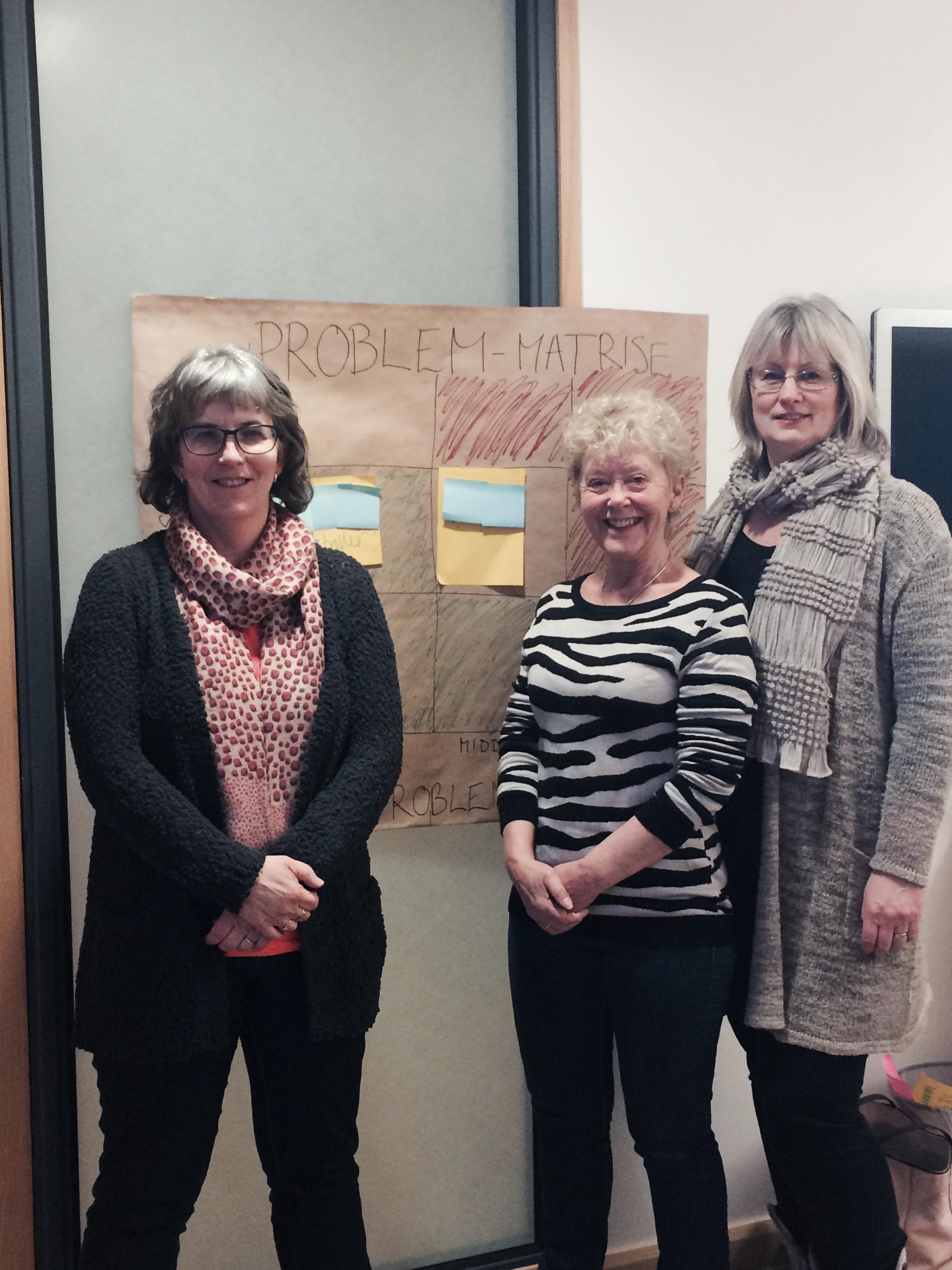 Fr.v: Birgitte Kiserud, Lise Oppegaard Edlund (leder servicekontoret) & Sonja Beate Solberg