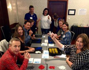 Entusiastiske deltagere under Case gokart på Lean gult belte sertifiseringskurs høst 2016.